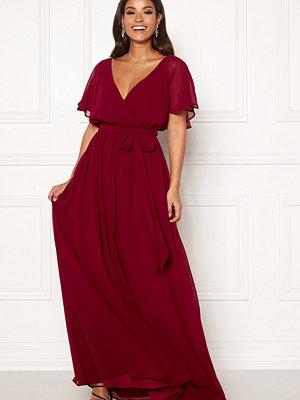 Goddiva Flutter Chiffon Dress