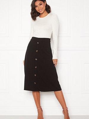 Jacqueline de Yong Bellis Button Skirt Black/Dark wood butt