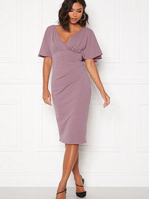 Goddiva Flutter Tie Waist Dress