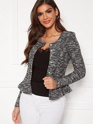 Chiara Forthi Crystalina peplum jacket Black