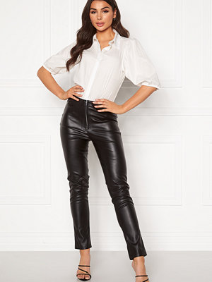 Ivyrevel svarta byxor Faux Leather Trousers Black
