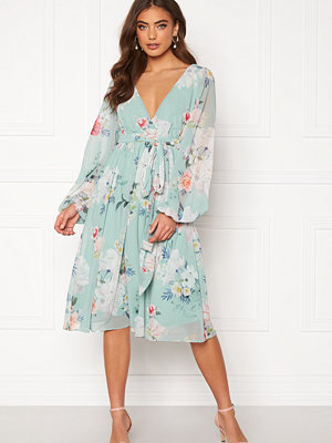 Goddiva Floral Chiffon Midi Dress