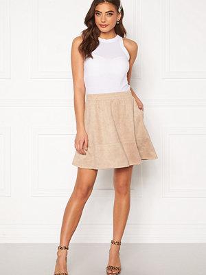 Rut & Circle Ava Suede Skirt Beige