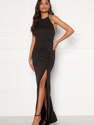 Sandra Willer X Bubbleroom Halterneck gown Black