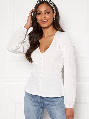 Sandra Willer X Bubbleroom Buttoned top White