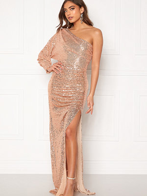 Goddiva One Shoulder Maxi Dress