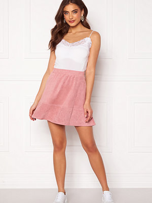 Rut & Circle Ava Suede Skirt Dusty Pink