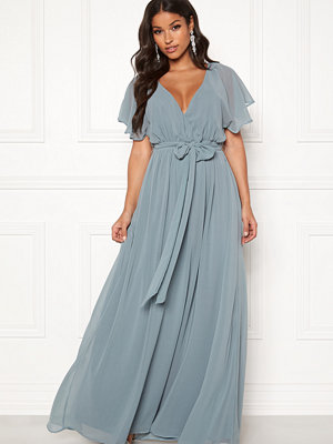 Goddiva Flutter Chiffon Dress