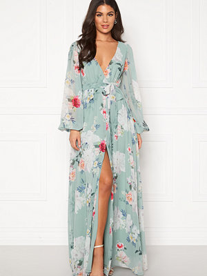 Goddiva Floral Chiffon Maxi Dress
