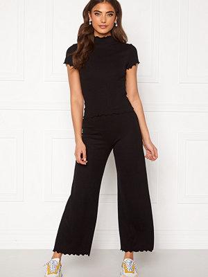 Bubbleroom svarta byxor Jessie rib trousers