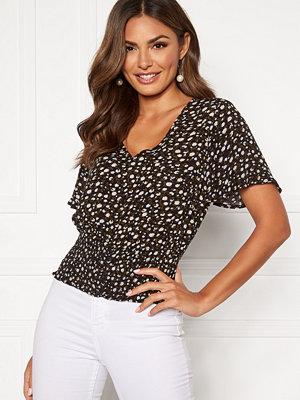 Happy Holly Bianka smock blouse Black / Patterned