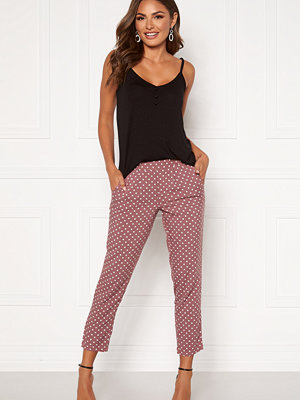 Happy Holly mönstrade byxor Blake pants Dusty pink / Dotted