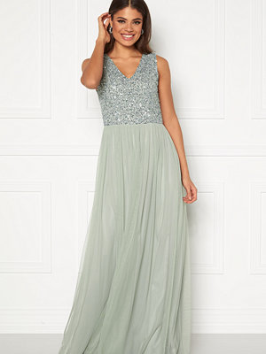 Angeleye Sequin Bodice V-Neck Maxi Dress