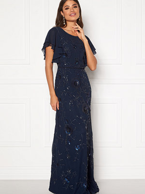 Angeleye Sequin Flutter Maxi Dress