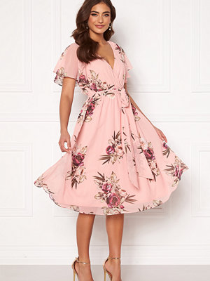 Goddiva Flutter Floral Midi Dress