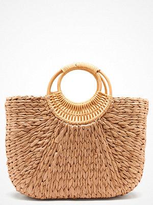 Pieces Noomi Straw Bag