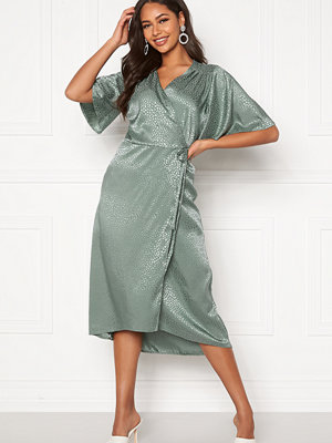 John Zack Flared Sleeve Wrap Dress
