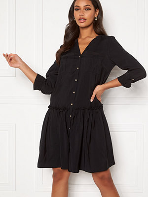 Vero Moda Michalla L/S ABK Button Dress Black
