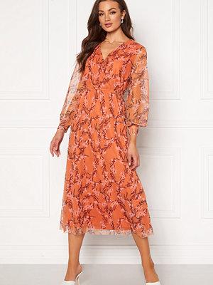 Rut & Circle Cleo Mesh Dress Orange Flower