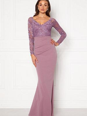 Goddiva Lace Trim Maxi Dress