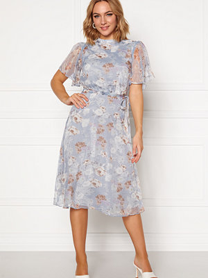 Vila Parisa S/S Midi Dress Ashley Blue