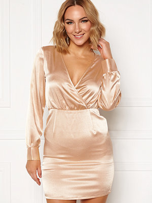 Ivyrevel V Neck Drapy Dress Gold