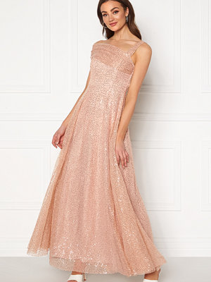 Goddiva Sequin One Shoulder Bardot Maxi Dress