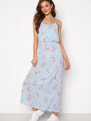 Only Nova Lux S/L Maxi Dress Cashmere Blue