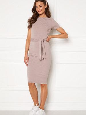 Bubbleroom Ines short sleeve dress Beige