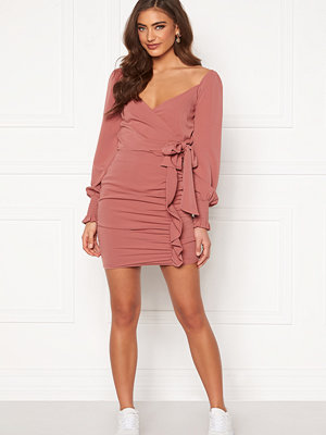 Bubbleroom Deb frill skirt Pink