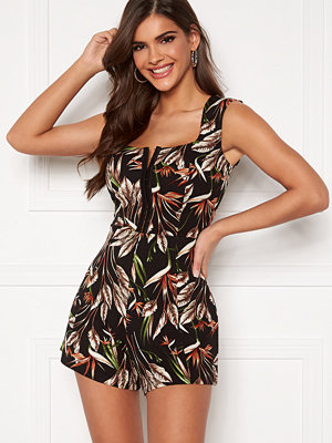 Chiara Forthi Anouk Playsuit Black / Green / Patterned