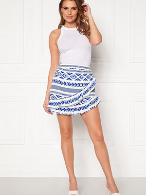 Only Lucca Wrap Skirt White, AOP CD/Dazzli