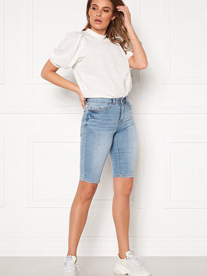 Vila Ekko RWSS Overknee Denim Shorts Light Blue Denim