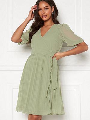 Bubbleroom Sinja puff sleeve dress Dusty green