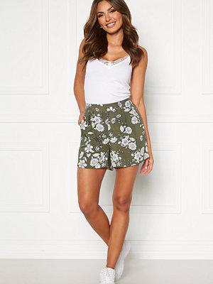 Happy Holly Thea shorts Khaki green / Patterned