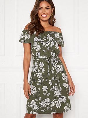 Happy Holly Layla dress Khaki green / Patterned