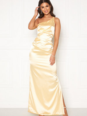 Nicole Falciani X Bubbleroom Nicole Falciani Pleat Gown Yellow
