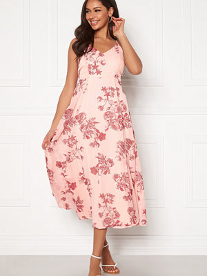 Bubbleroom Alana tie back dress Pink / Red