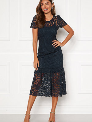 Happy Holly Taylor occasion lace dress Dark blue