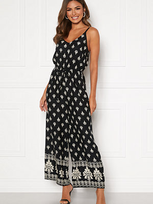 Happy Holly Matilda strap jumpsuit Black / Patterned