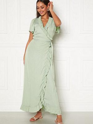 Dry Lake Takita Ankle Dress 329 Mint Green Satin