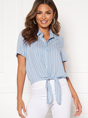 Happy Holly Vilma knot shirt Light blue / Striped
