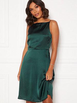 Moments New York Laylani Satin Dress Dark green