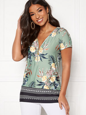 Happy Holly Carrie top Mint green / Patterned