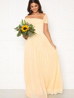 Nicole Falciani X Bubbleroom Nicole Falciani Mesh Gown Yellow