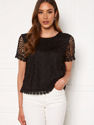Only Trissy Lace SS Top Black