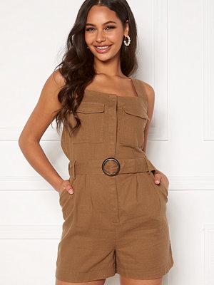 Only Noreen-Bibs Playsuit Toasted Coconut