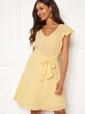 Vila Dottana S/S Dress Mellow Yellow