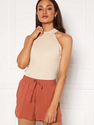 Selected Femme Solita S/L Knit Top Sandshell