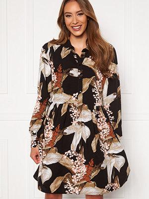 Object Liliti L/S Short Dress Black AOP